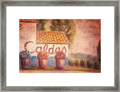 Mural Of Cerrillos Framed Print