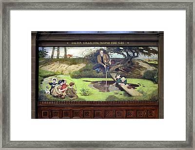 Mural Of John Dalton Framed Print