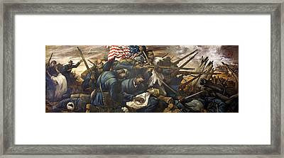 Mural Of The 54th Massachusetts And Colonel Shaw  Framed Print by Mountain Dreams