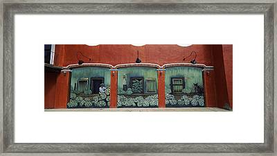 Mural On A Wall, Cancun, Yucatan, Mexico Framed Print