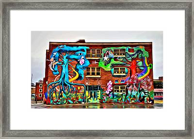 Mural On School Framed Print by Alice Gipson