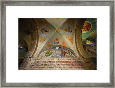 Mural On The Ceiling Of A Church, Saint Framed Print