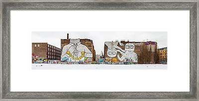 Mural Painting By Graffiti Artist Blu Framed Print