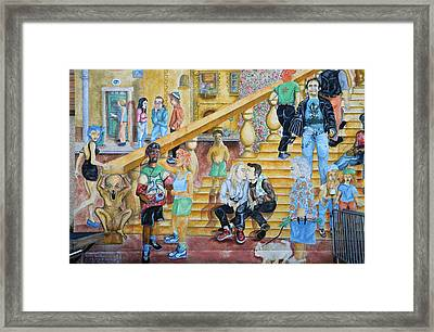 Mural Painting In Poitiers Framed Print by RicardMN Photography