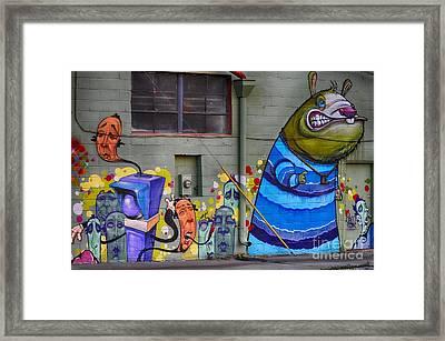 Mural - Wall Art Framed Print by Liane Wright