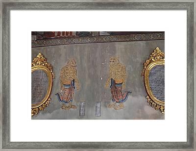 Mural - Wat Pho - Bangkok Thailand - 01132 Framed Print by DC Photographer