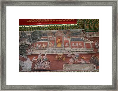 Mural - Wat Pho - Bangkok Thailand - 01133 Framed Print