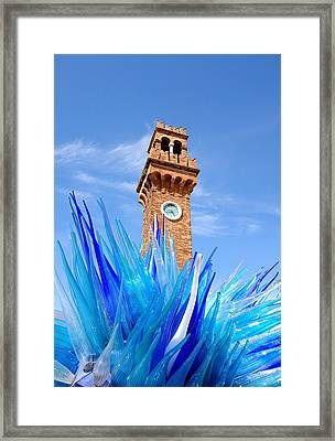 Murano Clock Tower Framed Print by Valentino Visentini