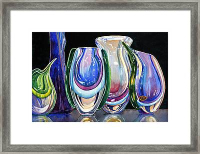 Framed Print featuring the painting Murano Crystal by Roger Rockefeller
