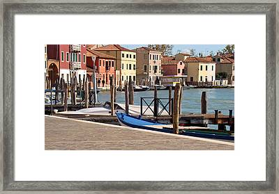 Framed Print featuring the photograph Murano Dock by Walter Fahmy