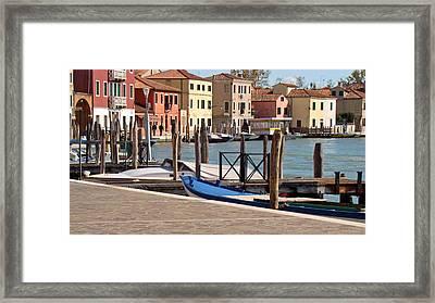 Murano Dock Framed Print