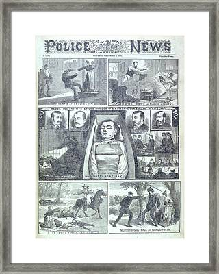 Murder At Buck's Row Framed Print by British Library