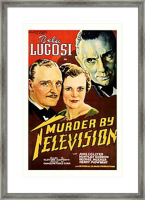 Murder By Television 1935 Framed Print