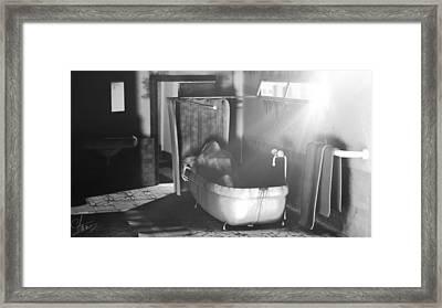 Murder In The Bath Framed Print