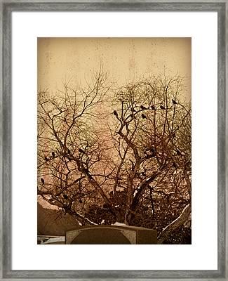 Murder In The Cemetery Framed Print by Brenda Conrad