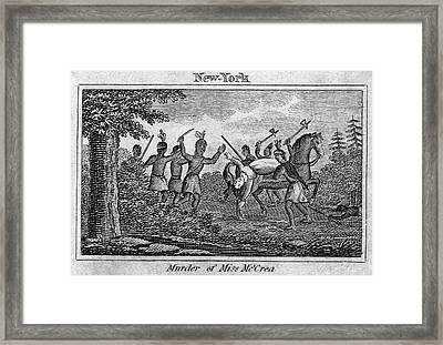 Murder Of Jane Mccrea, 1777 Framed Print