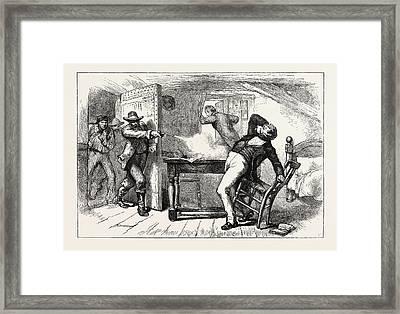 Murder Of Joseph And Hyrum Smith, June 1844 Framed Print by English School