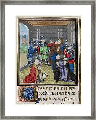 Murder Of Simon Sudbury Framed Print