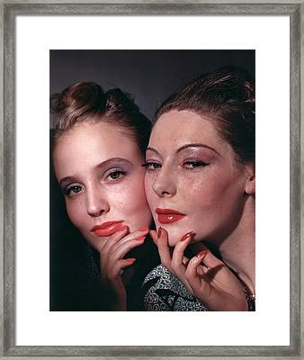 Muriel Maxwell And Ruth Knox Elden Framed Print by Horst P. Horst