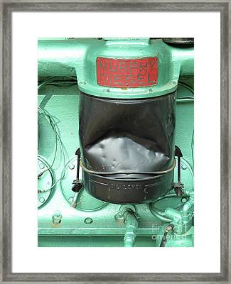 Framed Print featuring the photograph Murphy Diesel by Newel Hunter