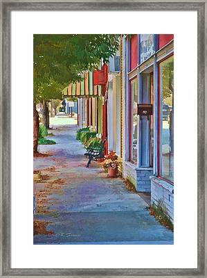 Framed Print featuring the photograph Murphy Nc Sidewalk by Kenny Francis