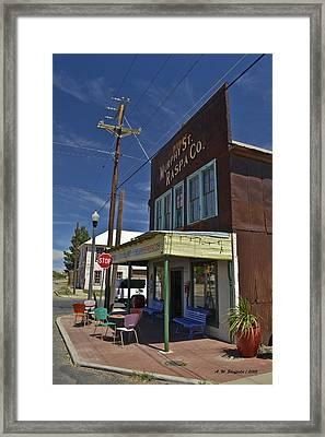 Murphy Street Raspa Framed Print by Allen Sheffield