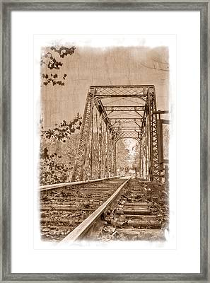 Murphy Trestle Framed Print by Debra and Dave Vanderlaan