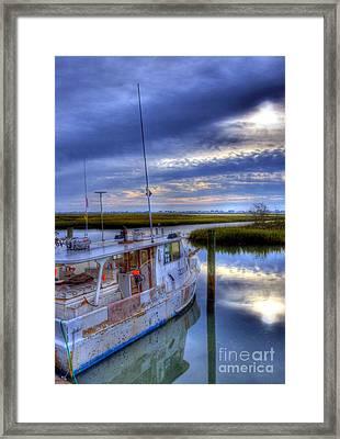Murrells Inlet Morning Framed Print by Mel Steinhauer