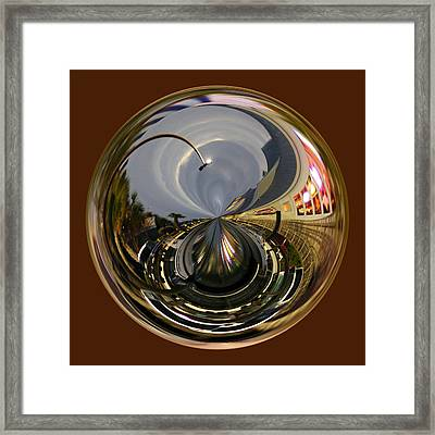 Murrells Inlet Orb Framed Print by Paulette Thomas