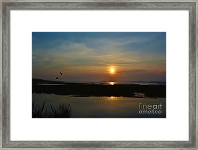 Murrells Inlet Sunrise Framed Print