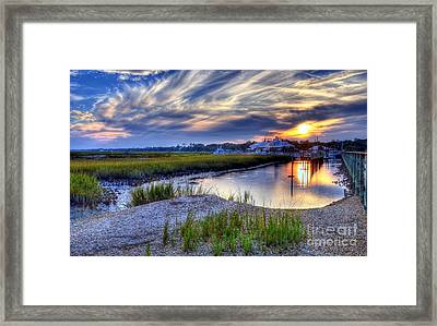 Murrells Inlet Sunset 4 Framed Print