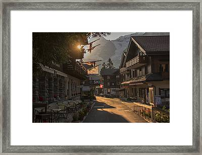 Murren Dawn Framed Print
