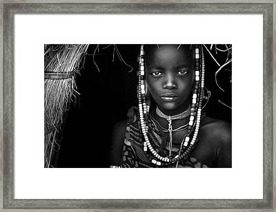 Mursi Girl Framed Print by Hesham Alhumaid