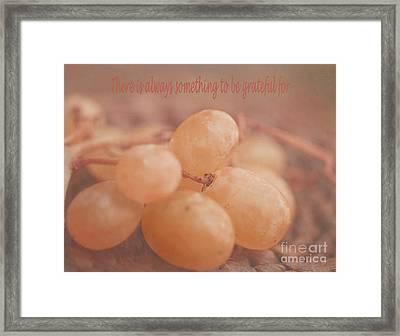Muscat Aroma Framed Print
