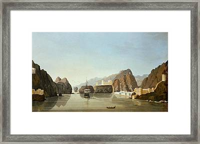 Muscat From The Harbour With A British Framed Print by English School