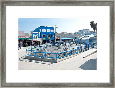 Muscle Beach Gym In Venice California Framed Print