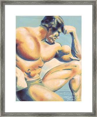 Muscle Beach Framed Print