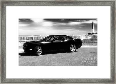 Muscle Car At Lbi Framed Print by John Rizzuto