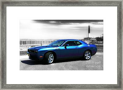 Muscle Car Fusion Framed Print by John Rizzuto
