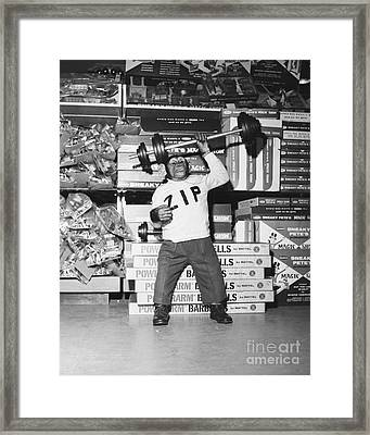 Muscle Man Framed Print