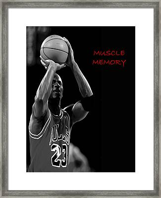 Framed Print featuring the painting Muscle Memory by Brian Reaves