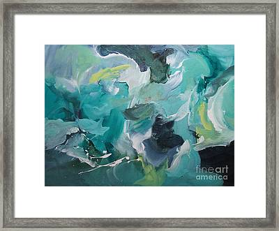 Framed Print featuring the painting Muse 107 by Elis Cooke