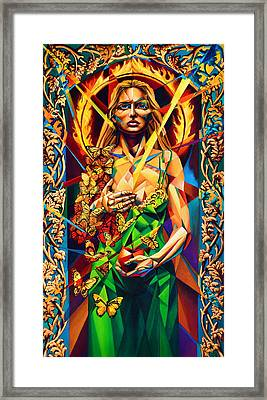 Framed Print featuring the painting Muse  Autumn by Greg Skrtic