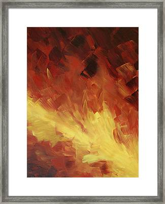 Muse In The Fire 2 Framed Print by Sharon Cummings