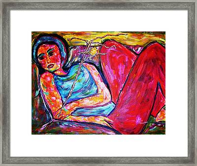 Muse Framed Print by Linda Vaughon