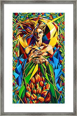 Framed Print featuring the painting Muse  Spring by Greg Skrtic