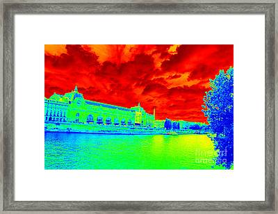 Musee D'orsay - Bold Colors Framed Print
