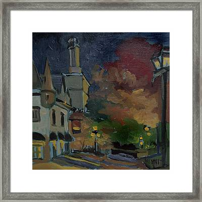 Musee Du Fort Night Study Framed Print by J R Baldini