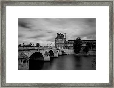 Musee Du Louvre And Pont Royal Framed Print