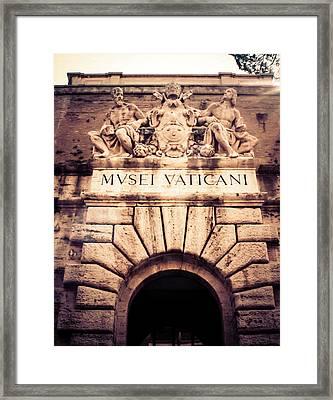 Framed Print featuring the photograph Musei Vaticani Uscita by Rob Tullis